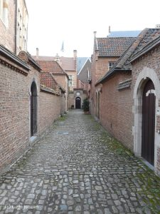 A view of a street inside the beguinage